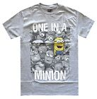 Despicable Me One In A Minion Grey Heather Men's T-Shirt New