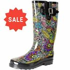 SheSole Ladies Festival Wellies Mid Calf Waterproof Rain Boots