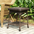 Outdoor Resin Wicker End Table by Jeco