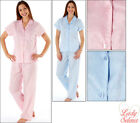 New Ladies Seersucker Short Sleeve Pyjamas Pink & Blue Size 14/16 18/20 22/24