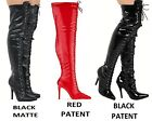 black patent thigh boots