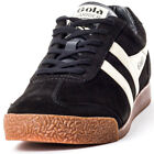 Gola Harrier Premium Unisex Black Suede Casual Trainers Lace-up Genuine Shoes