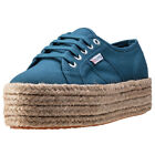 Superga 2790 Flatform Rope Womens Trainers Blue New Shoes
