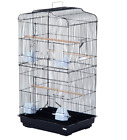 BLACK & WHITE TALL XL CAGE FOR BUDGIE COCKATIEL FINCH BIRD CAGE NBH3081