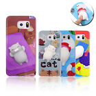 Squishy Case 3D Bear Seal Cat Pinch Toy Soft Cover for Samsung Galaxy S6 S7 S8+ $3.39 USD