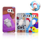 Squishy Case 3D Bear Seal Cat Pinch Toy Soft Cover for Samsung Galaxy S6 S7 S8+ $2.99 USD on eBay