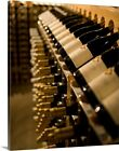 Solid-Faced Canvas Print Wall Art entitled Racks of wine bottles for sale  Shipping to Canada