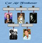 MALE RETRO MUSIC CAR AIR FRESHENER MANY VARIETIES SINGLE OR DOUBLE