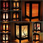 red desk lamp - Asian Oriental Bamboo Bedside Table Lamp Decorative Wood Shades Desk Night Light
