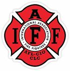 Fire Fighters International Association IAFF Red Vinyl Sticker Decal AFL Sizes