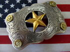 BELT BUCKLE TEXAS STAR RECTANGLE PISTOL CALIBER BRASS CASINGS UNIQUE HANDCRAFTED