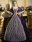 Vintage Victorian Purple short sleeve lace Embroidered Princess Ball Gown Dress