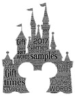 word art picture personalised gift present keepsake Disney Castle Micky mouse