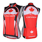 SPEG Canada Canadian Womens Sleeveless Cycling Jersey Full Zipper