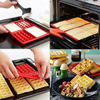 Waffles Cake Chocolate Pan Silicone Mold Microwave Baking DIY Mould Tray Tools