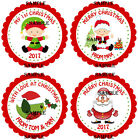PERSONALISED CHRISTMAS Stickers for party bags/Sweet Cones,Gifts Rf 02-01