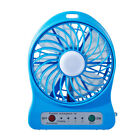 Portable Rechargeable LED USB 18650 Battery Fan Air Cooler Mini Operated Desk