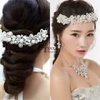 Women Faux Pearl Rhinestones Hair Band Headband Party Wedding Bridal TXSU