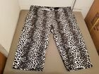 NWT Basic Editions Snow Leopard Print Relaxed Fit Legging