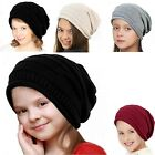 Winter Spring Hat Knitted Slouchy Kids Beanie Bonnet Chunky Baggy Warm Head Cap