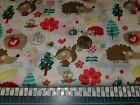 DOG CAT BANDANA Over Collar XS-L FOREST CRITTERS White Squirrels HEDGEHOGS Sweet