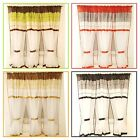 SALE   White Voile Net Curtain with pelmet Ready Made 400x150