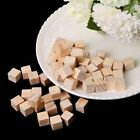 Baby Square Wooden Beads Handmade Woodcrafts Toy Natural Wood Cube Home Decor