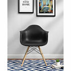 Ameriwood Mid Century Modern Molded Arm Chair with Wooden Legs