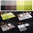 4X Vinyl Dining Table Place Mats PVC Placemat Heat Insulation Pad Weave Woven