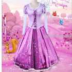 Halloween Tangled Rapunzel Princess Dress Fancy Costume Cosplay Outfit Custom