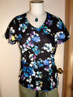 New Coldwater Creek Brilliant Floral Tee Sz S (8) M 10-12 NWT Vee Neck
