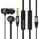 X16 3.5mm wired Headset Earbuds Headphones Stereo HiFi In Ear Earphones with mic