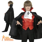 Boys Dracula Costume Cool Vampire Halloween Fancy Dress Kids Vampe Outfit New