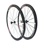CSC 38mm Tubular Clincher Tubeless Carbon Road Bike Wheels Bicycle Wheelset