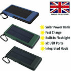 EXTERNAL SOLAR POWER BANK BATTERY FAST CHARGE For VODAFONE SMART TAB N8