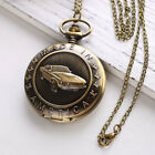 Retro Antique Pattern Pocket Watch Chain Necklace Pendant Vintage Punk Gift