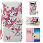For Samsung Note 9/8 S9+ Pattern Shockproof Flip Card Wallet Leather Case Cover