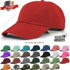 Plain Adjustable Military Solid Washed Cotton Polo Style Baseball Cap Caps Hat