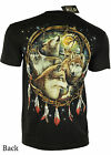 Wolves Red Indian Spatial Chief American Eagle Tattoo Biker black Tshirt  an24