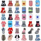 Various Small Pet T Shirt Dress Puppy Dog Cat Clothes Vest Bow Skirt Apparel US