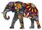 "Cheerful Elephant Cartoon Art Decor Vinyl Decal Sticker ""4 Sizes"""