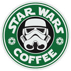 Star Wars Stormtrooper Coffee Starbucks Funny Logo Vinyl Sticker Decal $3.99 USD on eBay