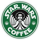 Star Wars Princess Leia Coffee Starbucks Funny Logo Vinyl Sticker Decal $3.99 USD on eBay