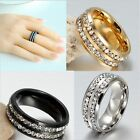 Fashion Engagement Ring Shining Crystal Gold Cocktail Ring Wedding Band Jewelry