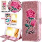 For iPhone 6s 7 8 Plus Leather Glitter Wallet Magnetic Flip Card Slot Case Cover
