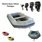 NEW Boat & Motor Packages WAVECO @ ULTRA Inflatable Boat 2.3 - 3.2 m + Motor