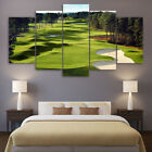 Canvas Paintings Printed 5 Pieces Golf Course Wall Art Canvas Pictures posters