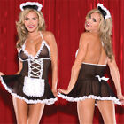 Halloween Sexy Women Costume Cosplay French Maid Lingerie Outfit Fancy Dress