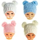 Baby Boys & Baby Girls Knitted Bobble Hats - Pink, White, Blue, Cream
