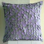 Felt Applique Grey Cushion Covers, Felt Throw Pillow Covers 16x16 - Winter Magic